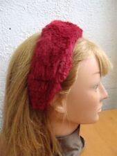 NEW RED RABBIT FUR HAIR ACCESSORY HEAD WRAP CHILD CHILDREN SIZE