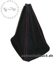 SCHALTSACK SCHALTMANSCHETTE  passt für AUDI 80 90 B3 B4  Naht Rot - Echt Leder