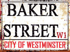 BAKER ST LONDON STREET SIGN METAL WALL SIGN RETRO  STYLE12x16in 30x40cm shed