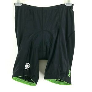 Canari  Gel Padded Biking Shorts Size XL Men's Drawstring Black Cycling Bike