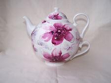 Tea for one aus Brilliantporzellan -  * Blüten pink *  ORIGINAL Jameson & Tailor