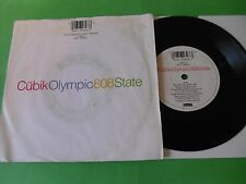 """808 STATE - CUBIK / OLYMPIC  7""""  90  VG"""