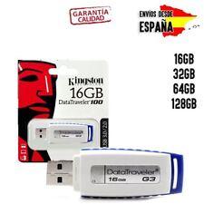 Pendrive memoria USB 3.1 3.0 Kingston 8/16/32/64/128GB Unidad Flash Drive