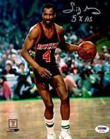Sidney Moncrief autographed inscribed 8x10 photo NBA Milwaukee Bucks PSA
