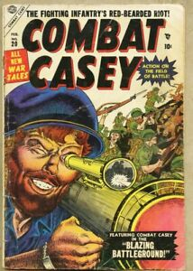 Combat Casey #20-1955 vg- 3.5 Marvel Atlas War Joe Maneely Robert Q. Sale