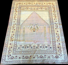 An Estate Found Authentic 19th Century 100% Silk Turkish Prayer Rug