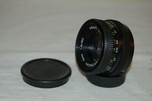 Pentacon Auto 1.8/50 German M42 Mount Lens. 2 Caps. Service. No.4802376. UK Sale