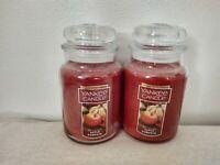Yankee Candle Apple Pumpkin 22 oz Large Glass Jar Candle Lot of 2 Rare