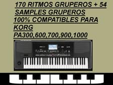 170 Ritmos Gruperos + 54 Samples, Korg Pa300, Pa600, Pa700, Pa900, Pa1000, Pa4X