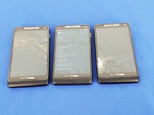 Lot of 3: Droid Razr M  - Black (Verizon) (M19)