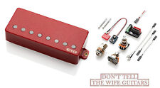 Emg 57-8H Red 8 String Active Solderless Humbucker Guitar Bridge Pickup & Wiring