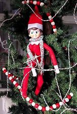 ELF ON THE SHELF ~~ KNITS A SCARF ~~ PROP ~~ ACCESSORY ~~ PRANK ~~ CHRISTMAS