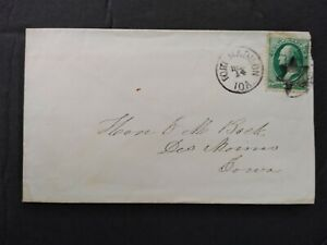Iowa: Fort Madison 1870s 3c Banknote Cover, Fancy Star Cancel