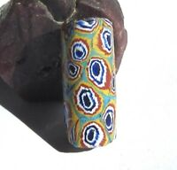 RARE ARGE OLD COLORFUL VENETIAN EYE ANTIQUE BEAD AFRICAN TRADE 11mm x 26mm
