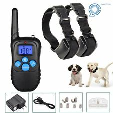 Rechargeable Electric 2 Dog Training Collar Shock Collar w/LCD Remote 330 Yards