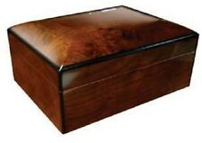 THE GRANDA 100 ~Hi-Gloss Lacquer Chestnut/Burl Pattern Finish- 100 Cigar Humidor