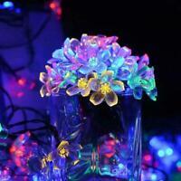 Solar String Lights Flower Bulbs Solar Garden Waterproof Decorative Light U6P8