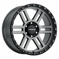 "20"" Vision Off Road 354 Manx 2 Satin Grey Wheel 20x9 6x5.5 0mm Lifted Truck Rim"