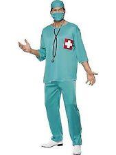 Surgeon Doctor Scrubs Nurse Adult Mens Smiffys Fancy Dress Costume - Medium