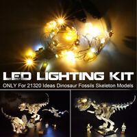 ONLY LED Light Lighting Kit For LEGO 21320 Ideas Dinosaur Fossils Skeleton Model
