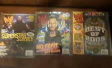 WWF Wrestling magazines lot of 3