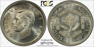 1952 South Africa 6 Pence PCGS PR68