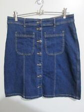 KATIES  size 8 10   Just Below the Knee  Dark Denim Skirt  w/stretch  BRAND NEW