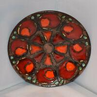 Ruscha 717/2 Keramik design Wandteller 28,5 cm Vintage 70s 60s  WGP MCM