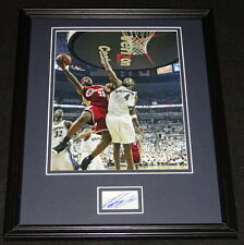 Antawn Jamison Signed Framed 11x14 Photo Display FLEER vs Lebron James