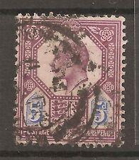 Uk-Great Britain-1902/10 -5 P.-Edward Vii-Violet & Blue-Y&T nr.113(used stamp)