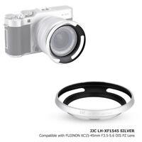 JJC Silver Metal Lens Hood for Fuji X-A5 X-T100 Lens FUJINON XC15-45mm F3.5-5.6