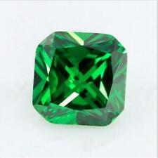 Green Emerald Sapphire 3.80Ct 8x8MM Cushion Cut AAAAA VVS Loose Gemstone