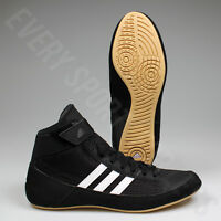 Adidas HVC 2 Youth / JR Wrestling Shoes AQ3327 - Black / White (NEW) Lists @ $59