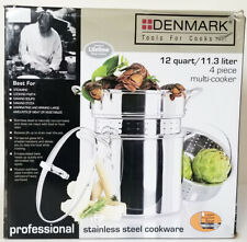 DENMARK Tools for Cooks 12 qt 11.3 l STAINLESS STEEL 4 piece MULTI COOKER