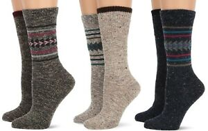 Wise Blend Womens Warm Wool Casual Aztec Pattern Crew Boot Winter Socks 2 Pair