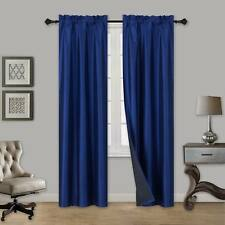 ULTIMATE 100% BLACKOUT HOTEL QUALITY WINDOW CURTAIN BLACK BACKING TOM 1PC PANEL