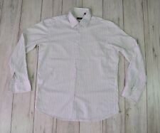 HUGO BOSS MEN'S WHITE STRIPED FORMAL SHIRT size 43 (17) made in Italy
