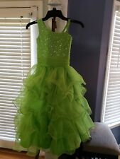 Girls Lime green pageant dress size 4
