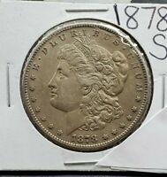 1878 S $1 Morgan Silver Dollar Coin Choice XF EF  Extra Fine Original Toning