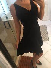 White House Black Market Little Black Dress Xs 2 Grecian Jersey Sexy