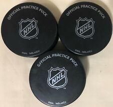 NHL Official Practice Pucks 6oz InGlasCo - Lot of 3 - Black Canada Hockey