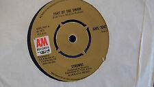 THE STRAWBS WILL YOU GO / PART OF THE UNION ON ORG. BROWN AM RECORDS