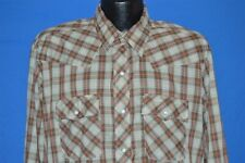 vintage 80s Dakota Five Brothers Brown Green Western Pearl Snap Cowboy Shirt Xl