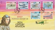 Unaddressed Jersey FDC First Day Cover 2003 Aviation History VIII Stamp Set