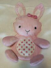 Little Me Polka Dot Pink Bunny Large Blanket Tummy Time Crinkle N Squeak 30x40