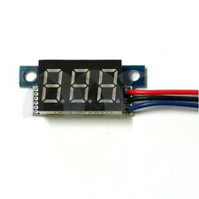 Yellow 3-Wire LED Panel Meter Mini Lithium Battery Digital Voltmeter DC3.3V-30V