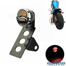 Side Mount Stop Brake Taillight License Number Plate Bracket For Harley Crusiers