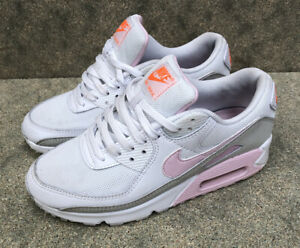 Womens Air Max 90 Uk 5 White Pink Foam Total Orange