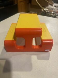 """Vintage Little Tikes Family Doll House Picnic Table Accessory Yellow Orange 6"""""""