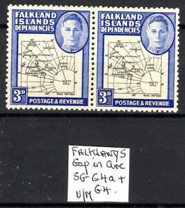 Falkland Dependencies MNH 3d SG G4a/G4 pair [gap in arc] 1946-49 [F140821-2]